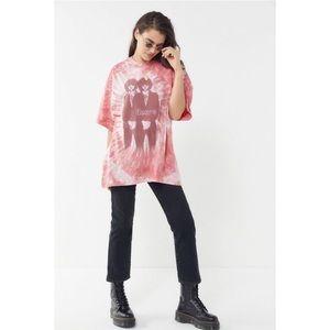 UO The Doors Tie-Dye Oversized T-shirt